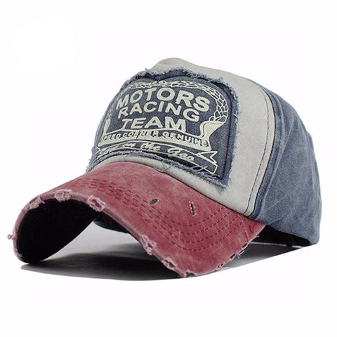 Weathered Adjustable Snap Back Baseball Cap - Hautify