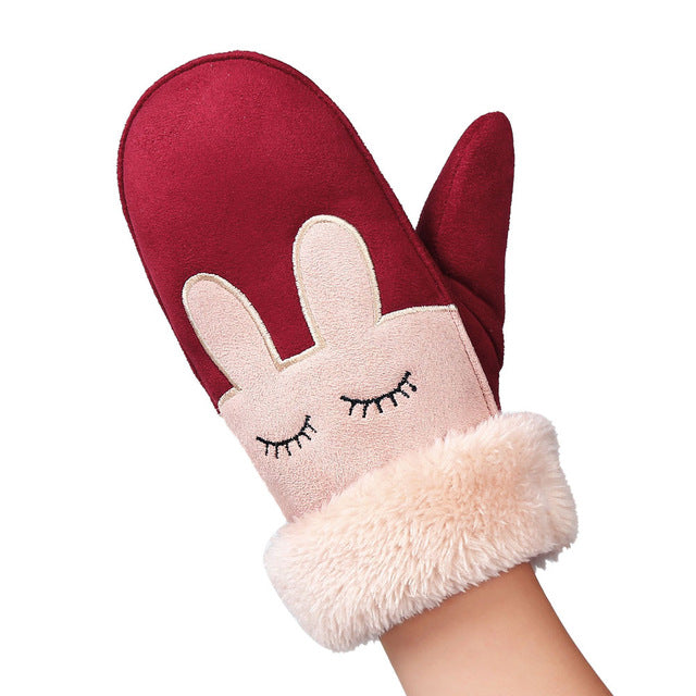 Faux Fur Warm Winter Mittens - Hautify