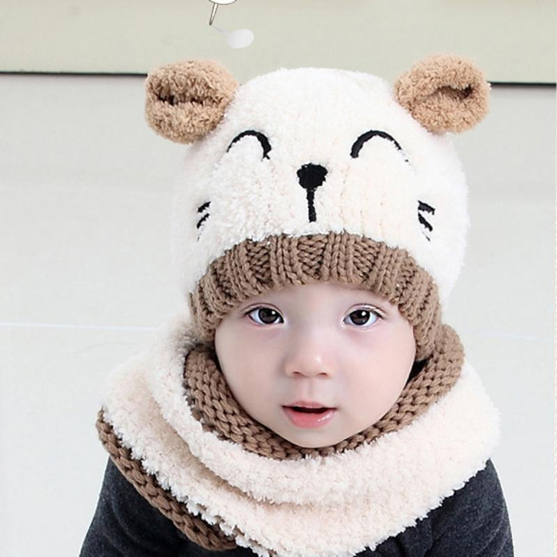 Cute Animal Design Winter Hat Scarf Set - Hautify