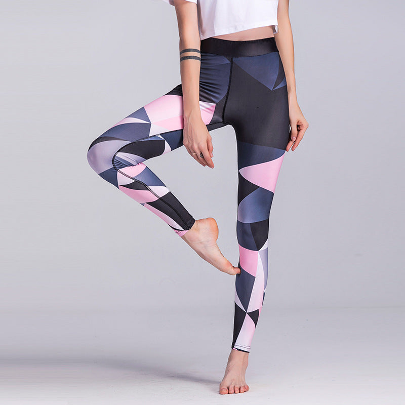Geometric Prints Yoga Ankle Leggings - Hautify