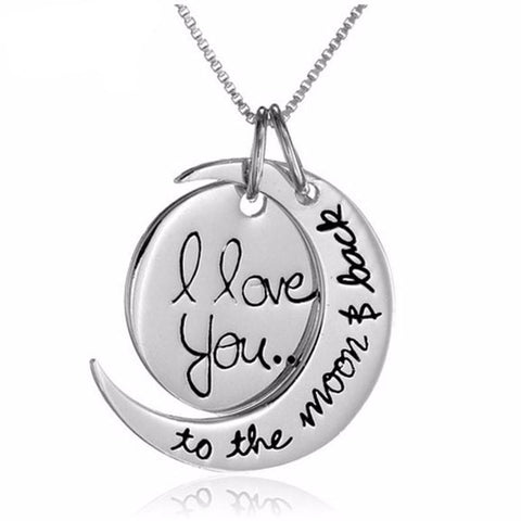 """I Love You To the Moon and Back"" Pendant Necklace - Hautify"