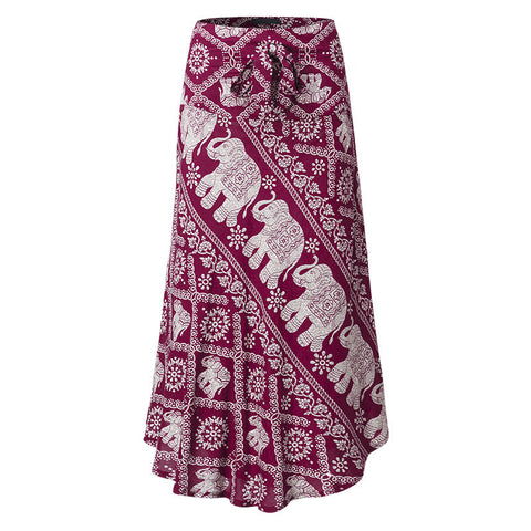VintageHigh Low Tribal Print Skirt Sizes S-3XL - Hautify
