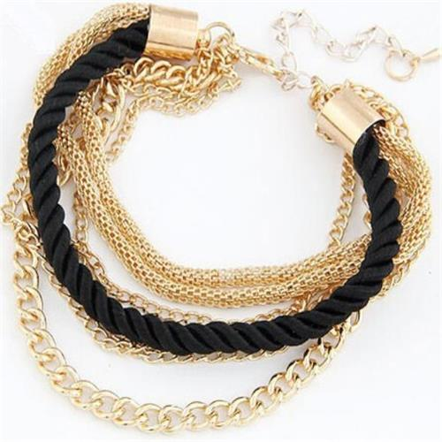 Rope Chain Gold Tone Bracelet