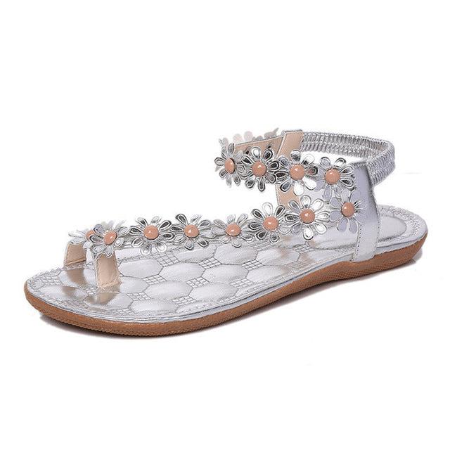Gladiator Style Bling Flat Summer Sandal for Women - Hautify