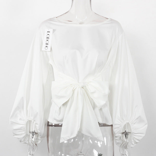 Women's Party Chiffon Blouse Large Bow