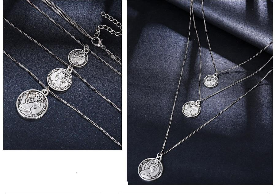 Fashionable Women Coin Pendant Necklace - Hautify
