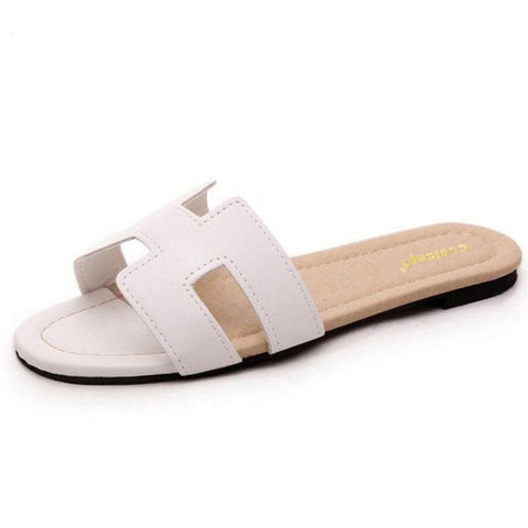 Geometric Open Toe Flat Sandals for Women - Hautify
