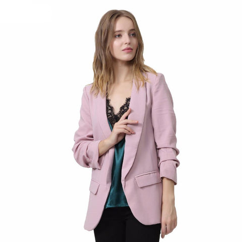 Womens Cool Weather Quarter Sleeve Blazer - Hautify