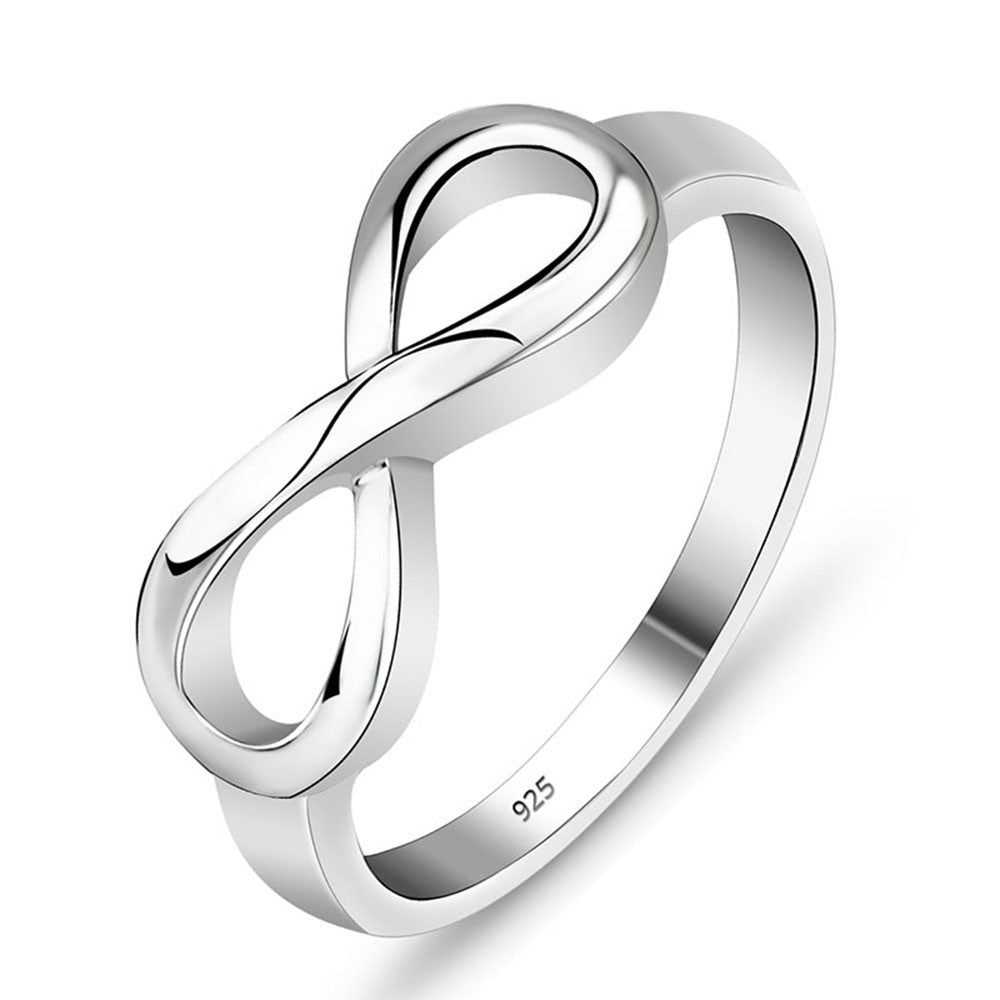 Endless Love Best Friend Silver Plated Infinity Ring for Women - Hautify