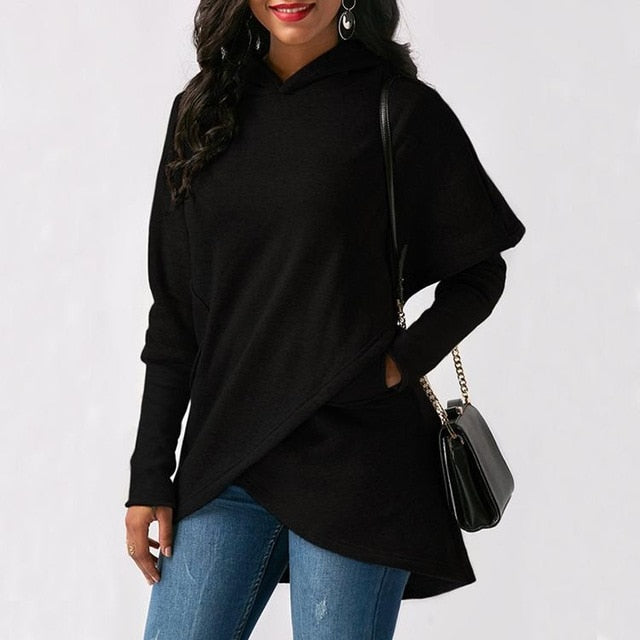 Embroidered Long Sleeved Warm Sweatshirt
