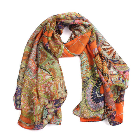 Ukelele African Print Scarf for Women