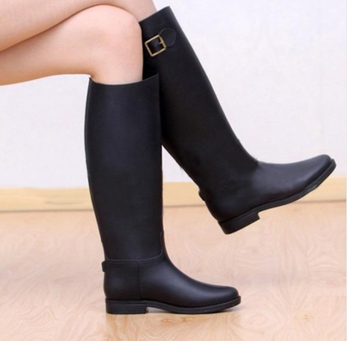 best sale shop for authentic picked up Macha Collection Womens Knee High Rain-boots Wide Calf - Hautify
