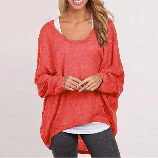 Batwing Sleeve Relaxed Fit Top - Hautify
