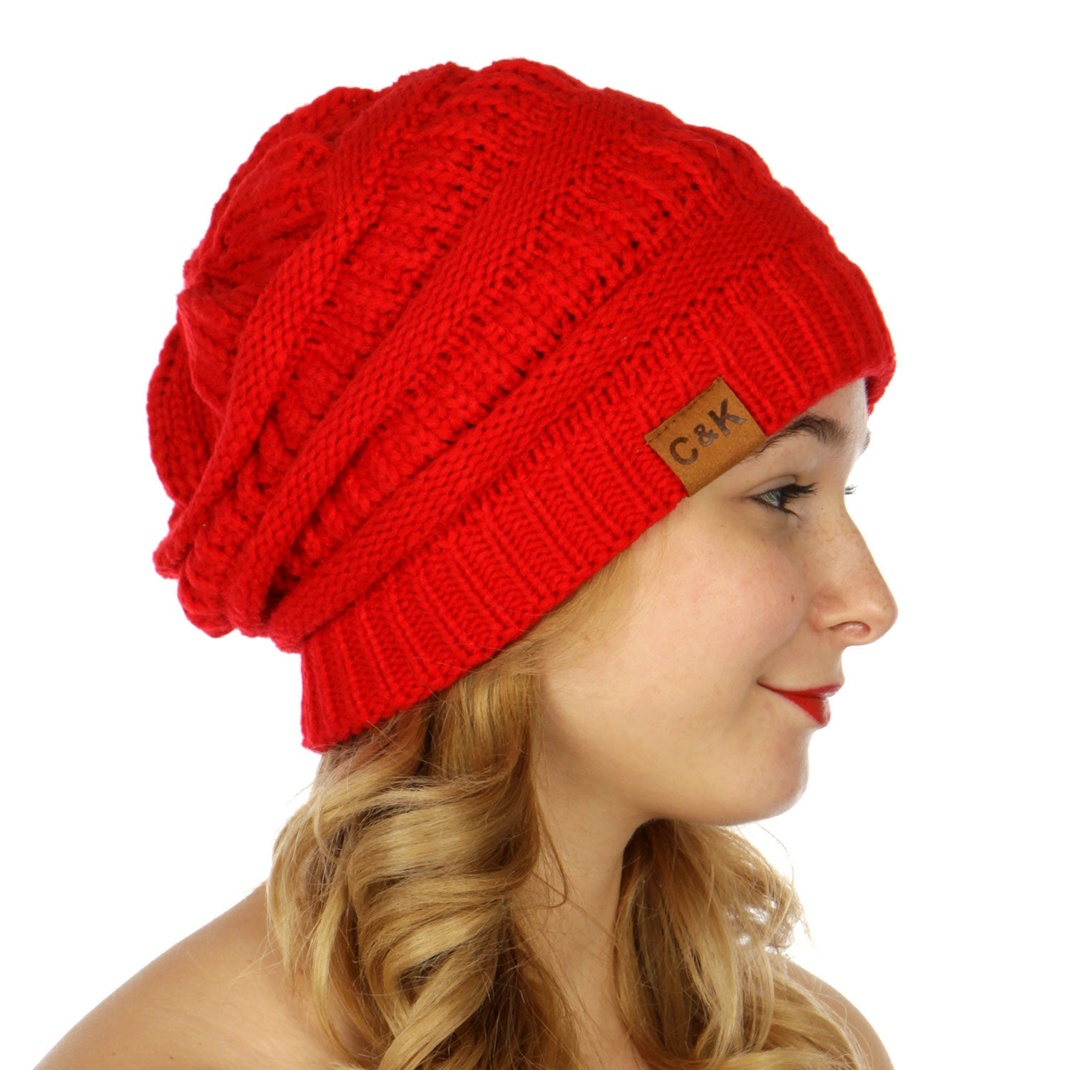 Solid Slouchy Knit Beanie