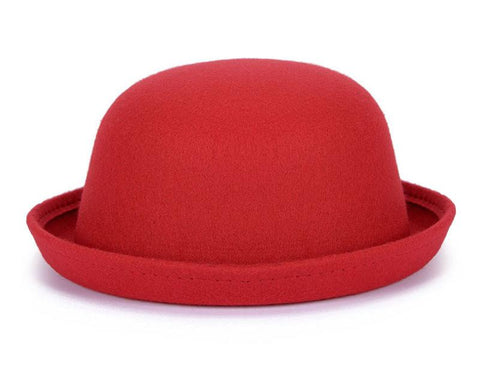 Bowler Style Solid Fedora Hat - Hautify