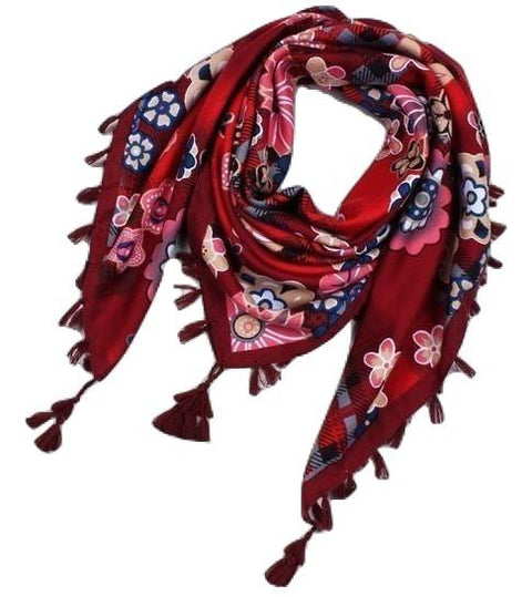 Bohemian Style Tassel Square  Scarf - Hautify