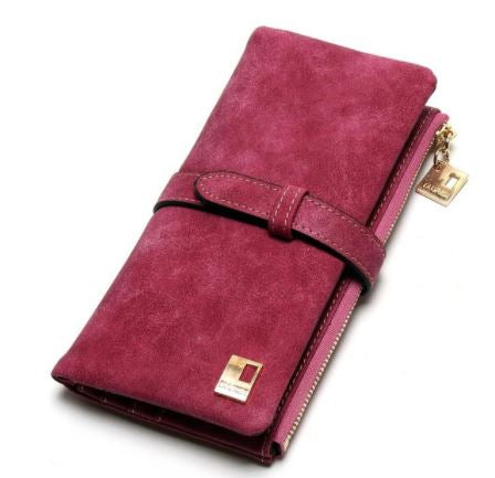 MC Nubuck Leather Women's Zipper Wallet - Hautify