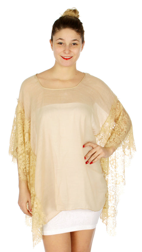 Romantic laced light Cover Up - Hautify