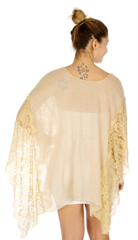 Romantic laced light Cover Up