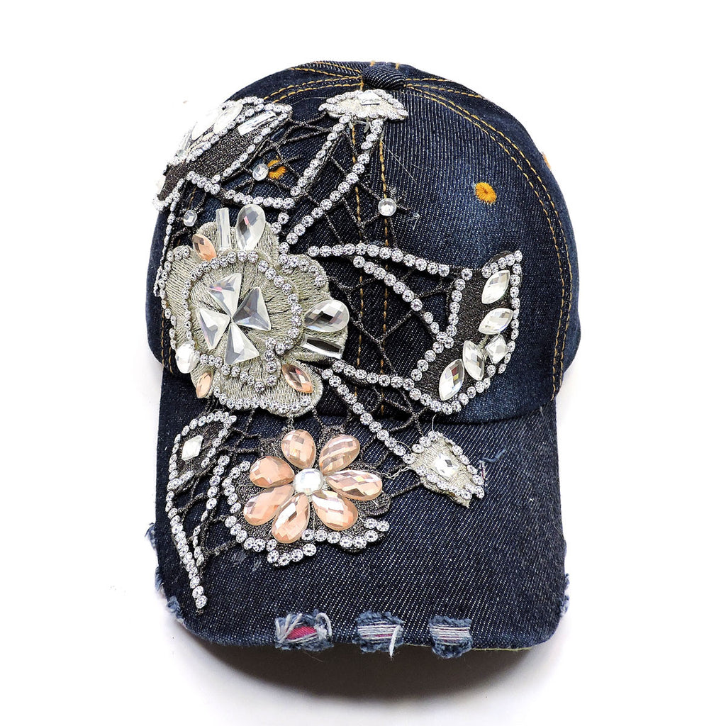 Big Blue Flower Baseball Cap - Hautify