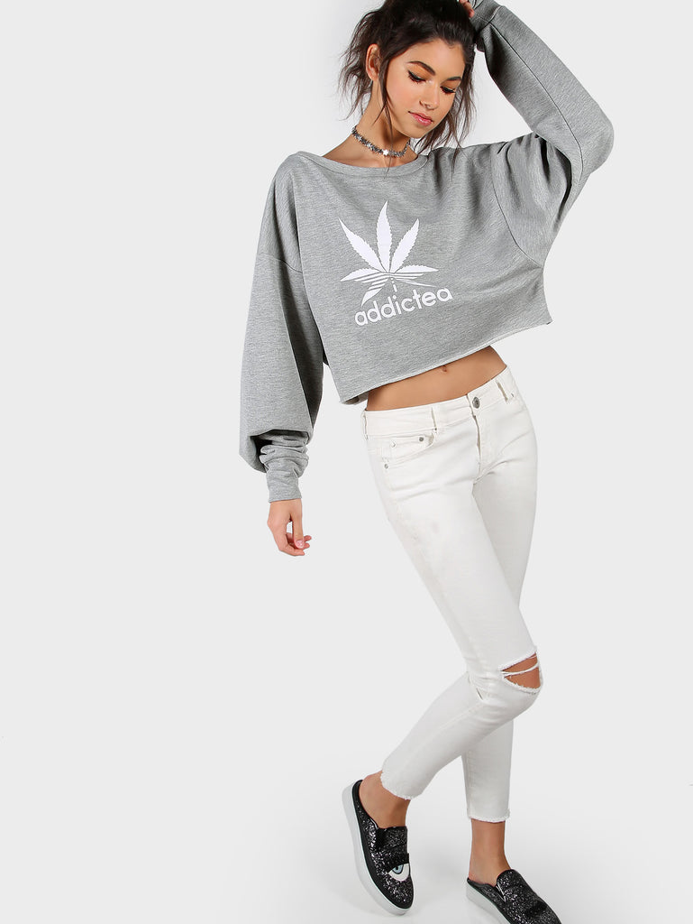 Graphic Print Drop Shoulder Sweater For Ladies - Hautify