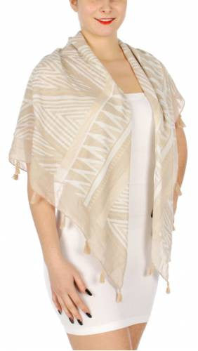 Tribal Spikes Print Square Scarf - Hautify
