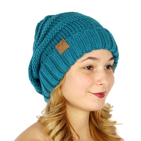 Over-sized Slouchy Knit Hat - Hautify