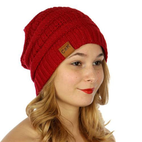 Oversized Slouch Beanie Red