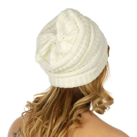 Oversized Slouchy Beanie Hat White