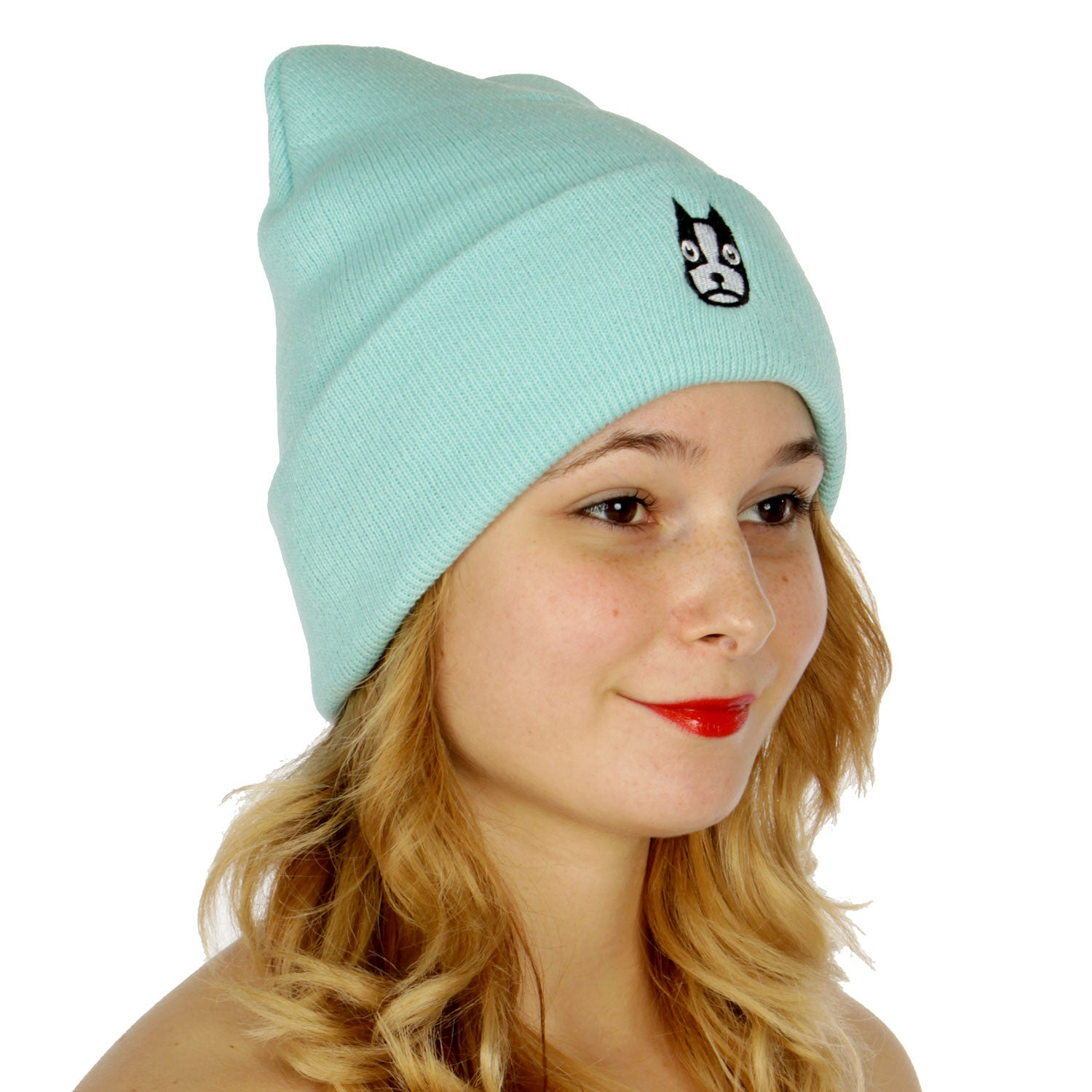 Cute Dog Embroidered Unisex Beanie