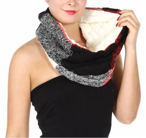 Shop womens scarves and wraps hautify faux fur plaid infinity scarf hautify gumiabroncs Gallery