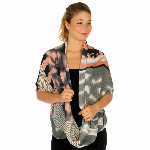 Tie Dye Print  Knit Infinity Scarf for Women - Hautify