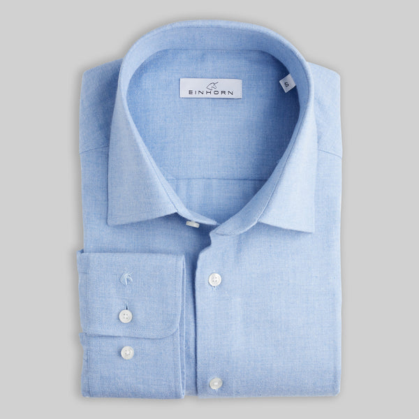 Flanellhemd Regular Fit Blau