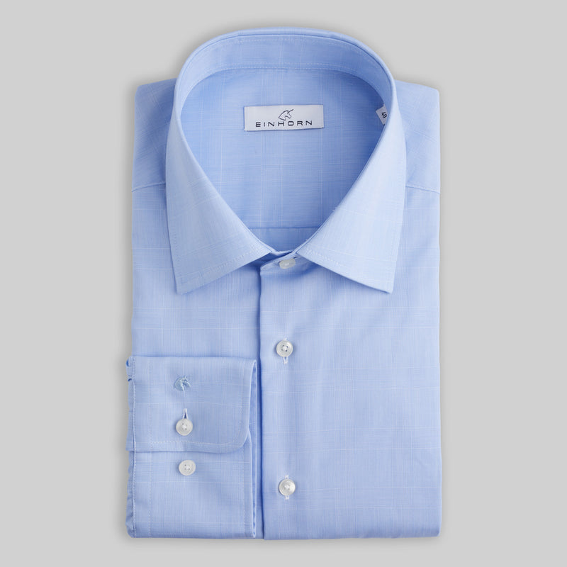 Hemd Regular Fit Non Iron Karo Blau