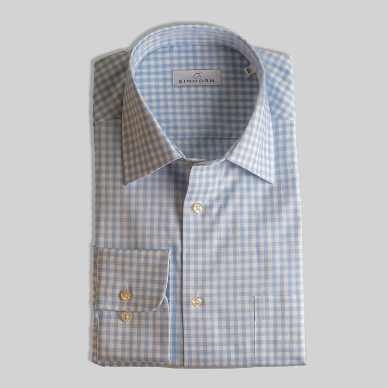 Hemd Regular Fit Oxford Blau Karo