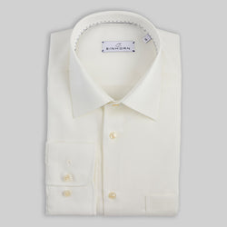 Creme Bügelfreies Einhorn Hemd  Klassische Passform  100% Poplin Cotton  Kragen Kent Fit Regular Fit Derby Non Iron / Bügelfrei Artikel 11305/10