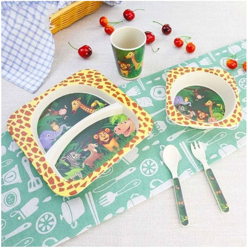 Eco Bamboo Fiber Toddler Feeding Set - Beary Kids