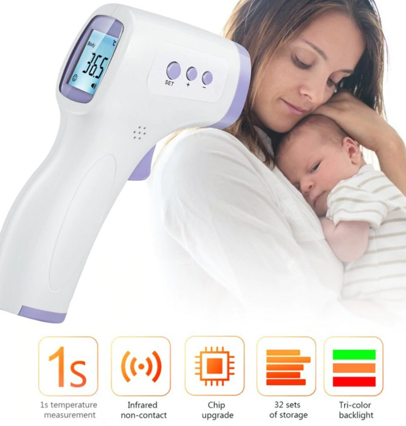 No Contact LCD Infrared Forehead Thermometer - Beary Kids