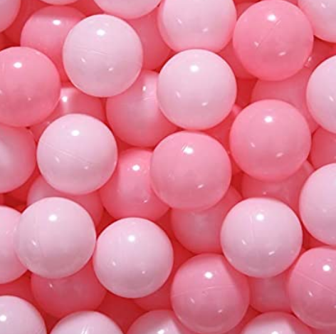 Medium Ball Pit Balls - 50 Balls - 6cm- Multiple Pink Mix - Beary Kids