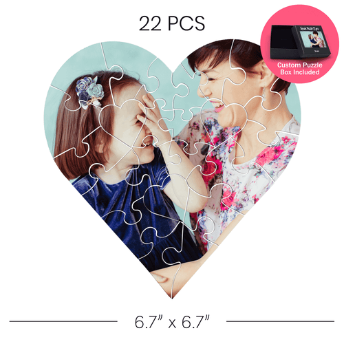 Heart Shaped Jigsaw Puzzle 22 pcs   Custom Box