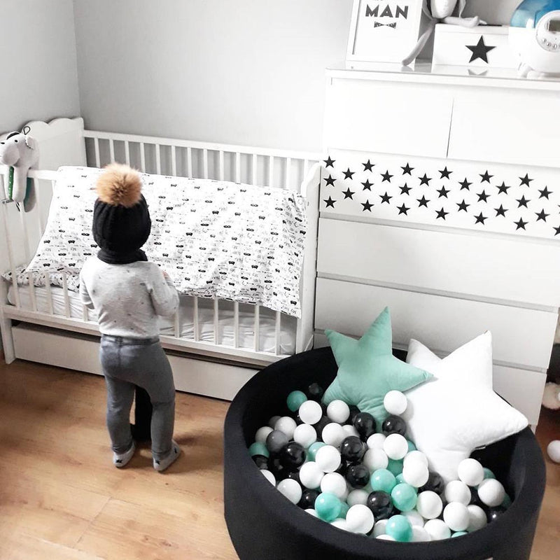 Soft Foam Ball Pit - Black - Beary Kids