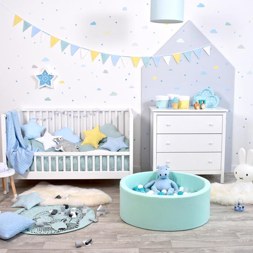 Soft Foam Ball Pit - Light Blue - Beary Kids