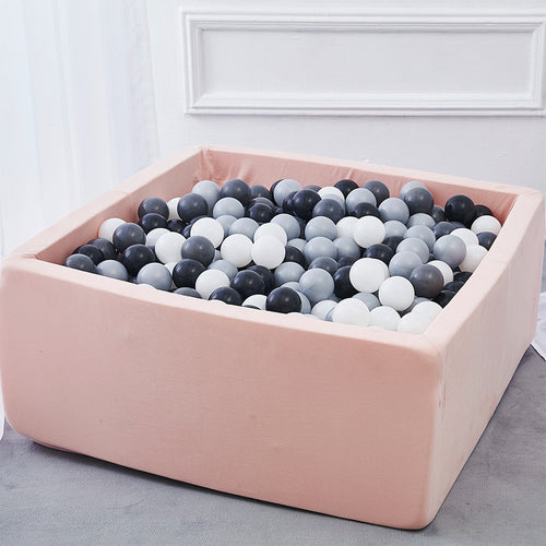 Soft Foam Rectangular Ball Pit Pool - Pink - Beary Kids