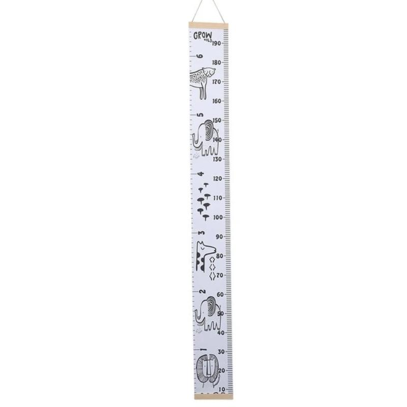 Nordic Bear Animal Height Chart Wood With Stickers - Beary Kids
