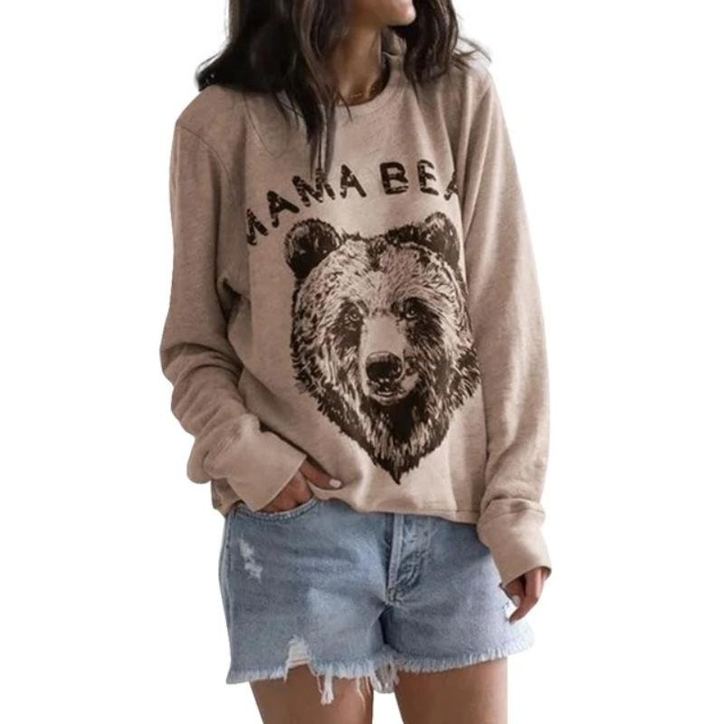 Mama Bear Printed Casual Tops - Beary Kids