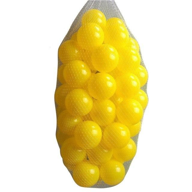 Large Ball Pit Balls 7cm - 200 Balls- Yellow - Beary Kids