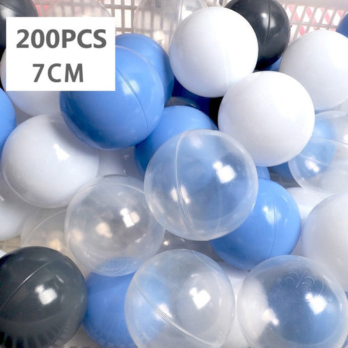 Large Ball Pit Balls 7cm - 200 Balls - Bright Blue Mix - Beary Kids