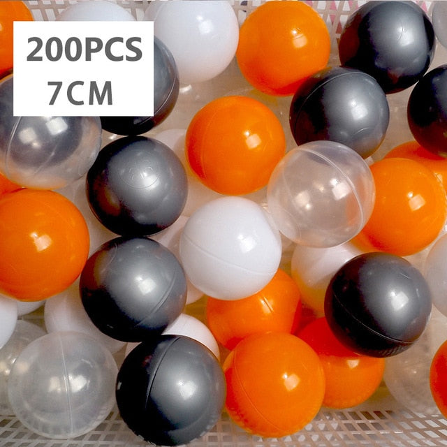 Large Ball Pit Balls 7cm - 200 Balls- Orange Mix - Beary Kids