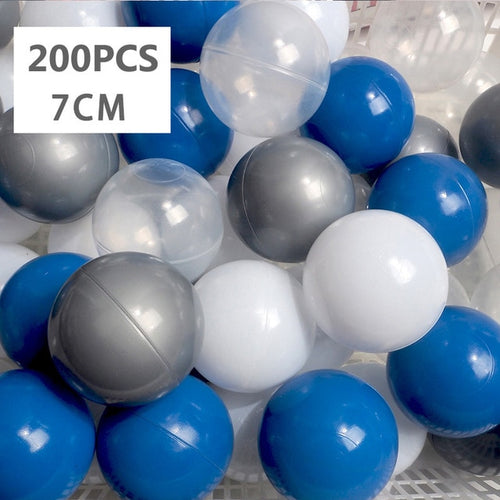 Large Ball Pit Balls 7cm - 200 Balls - Blue Mix - Beary Kids