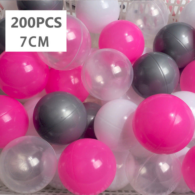 Large Ball Pit Balls 7cm - 200 Balls - Hot Pink Mix - Beary Kids
